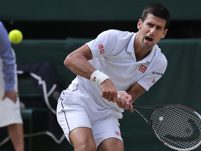 I'd have a pained expression too, Novak.