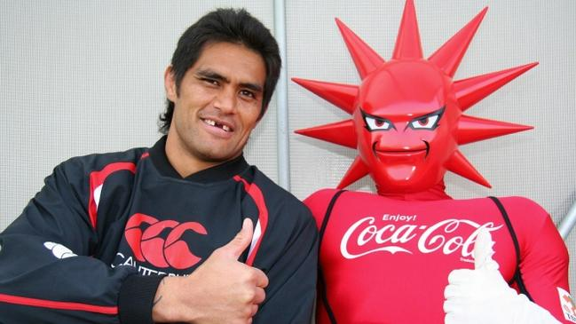 Cummins's side, Coca Cola West Reds Sparks, have an interesting looking mascot.