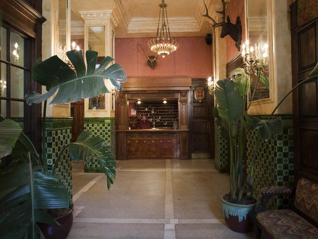 The entrance to the Jane Hotel.