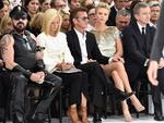 Peter Marino, Marie-Chantal of Greece, Sean Penn, Charlize Theron and Bernard Arnault attend the Christian Dior show as part of Paris Fashion Week - Haute Couture Fall/Winter 2014 in Paris, France. Picture: Getty