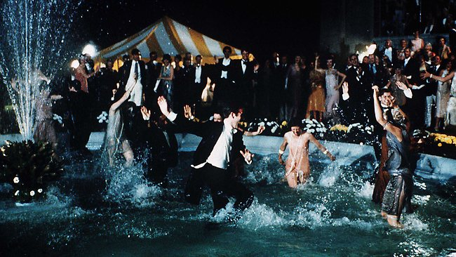 Depicting one of Gatsby's famous parties in the 1974 production. Picture: Big Australia