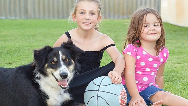 "Olivia and Leah are dog-sitting Milly for their Nanny during the holidays. Their mum Melissa said: ""With a lot of help and encouragement, she got a score of 25. Certainly not the brightest of pooches but one of the most loved and the world's best dog soccer player. """
