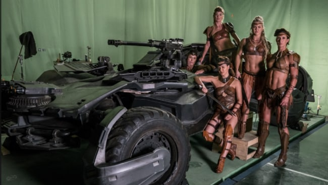 CrossFit champion Brooke Ence and other Amazons in Justice League. Photo: Zack Snyder