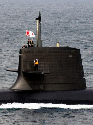 Is this the future? ... One of Japan's hi-tech Soryu class submarines. Picture: Kikuchi Masayuki