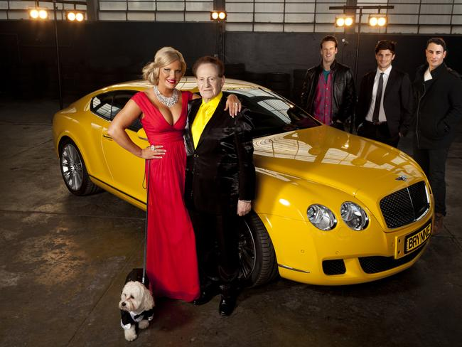 Extravagant ... Brynne Gordon and Geoffrey Edelsten promoting Seven's reality show, My Bedazzled Life.
