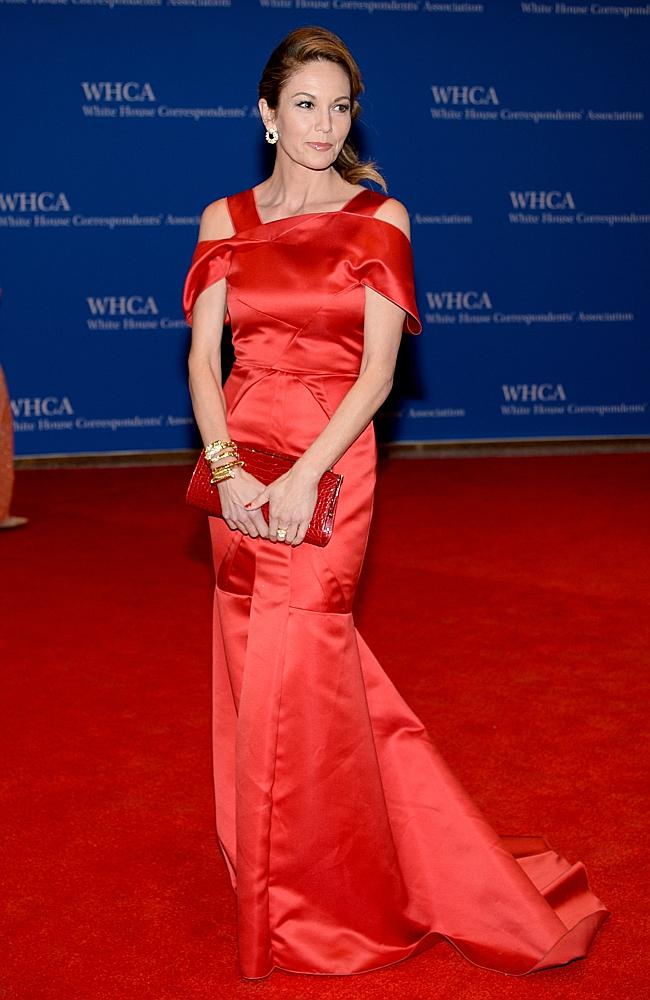 I love you Diane Lane, but this is not your best frock. (Photo by Dimitrios Kambouris/Getty Images)