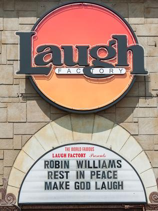The Laugh Factory in Los Angeles honours Robin Williams.