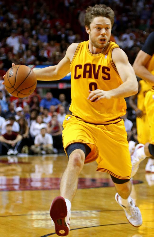Matthew Dellavedova runing the floor with the Cleveland Cavaliers - who have lured back superstar LeBron James for next season.