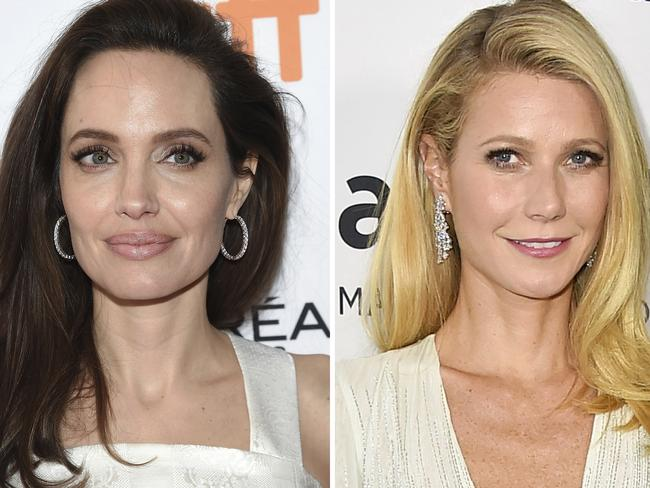 Angelina Jolie and Gwyneth Paltrow have both added to claims against Harvey Weinstein. Picture: AP Photo/File.