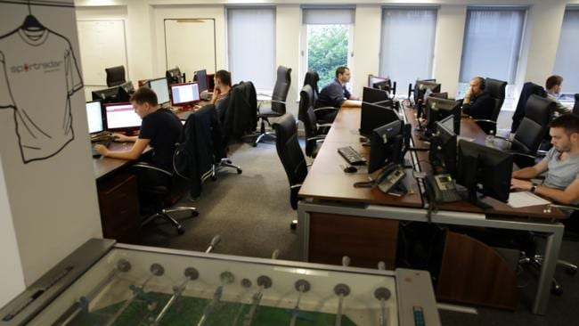Offices of Sportradar, London. Picture: Ella Pellegrini