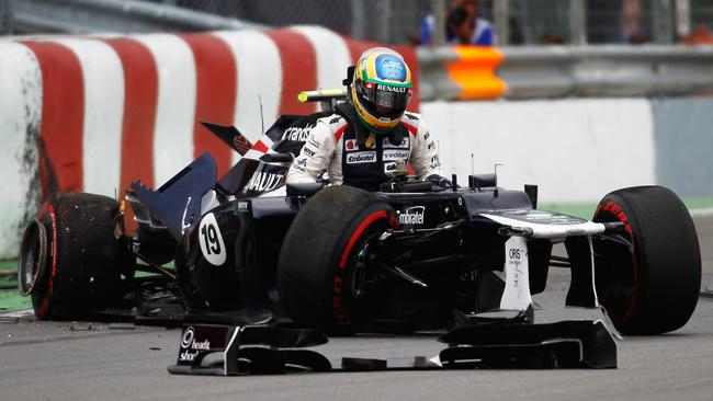 Bruno Senna is one of many victims of the 'Wall of Champions'.
