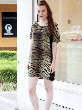"Brianna Schlecht, 21, Woollahra. ""Melbourne is more vintage, Sydney is more fresh, there are a lot more upcoming designers.""/ Wearing - Shakuhachi dress $120"
