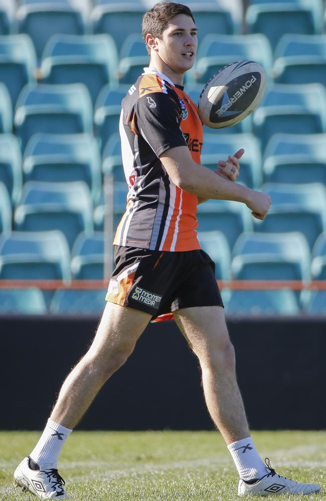 Mitchell Moses pictured at Wests Tigers training.