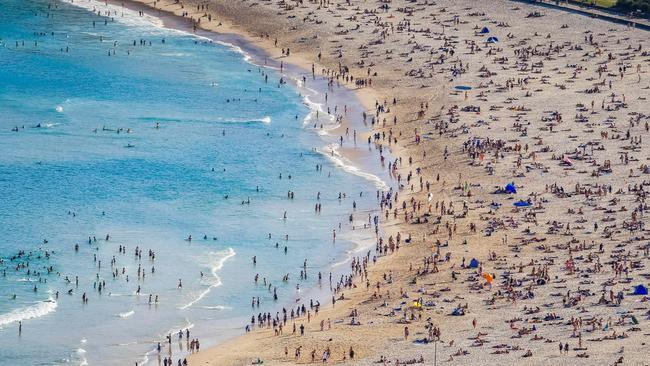 Preview: Bondi Beach was already packed in September and summer's still a long way off.