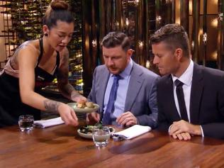 EMBARGOED TILL 9PM APRIL 24 MKR semi finals. Davie and Betty the first team to deliver an entree. Picture: Channel 7