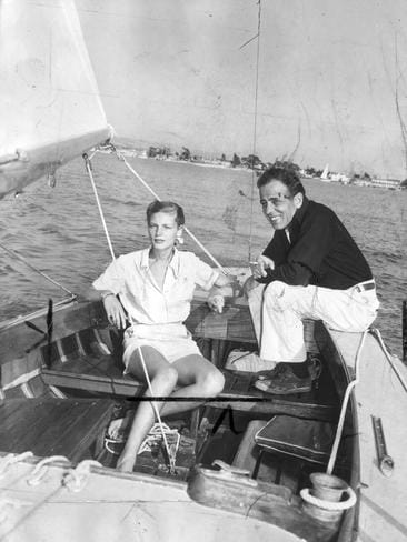 Lauren Bacall and Humphrey Bogart remained together until his death from esophageal cancer in 1957. Picture: Supplied
