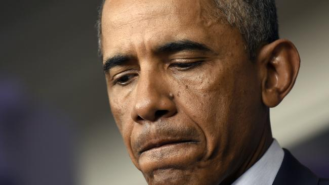 Trying to unite ... US President Barack Obama sys giving in to anger will only stir tensions. Picture: AP Photo/Susan Walsh