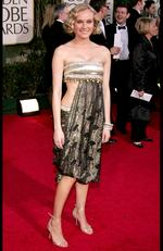 Best dressed regular slips Diane Kruger slips up at the 2005 Golden Globe Awards in a Bollywood inspired outfit. Picture: Carlo Allegri/Getty Images