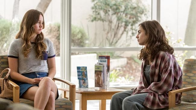 Lily Collins and Liana Liberato, who play sisters in 'To The Bone'. Photo: Netflix