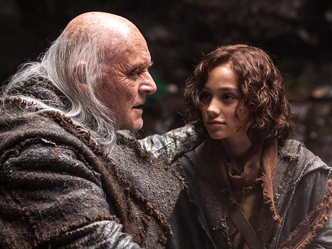 No mention of God ... Sir Anthony Hopkins and Gavin Casalegno star in Noah. Picture: Supplied