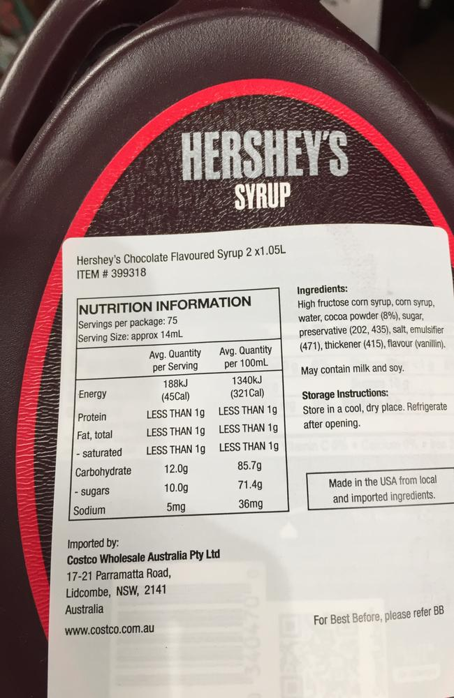 It's hard not to be impressed by an item that contains high fructose corn syrup, corn syrup and sugar.