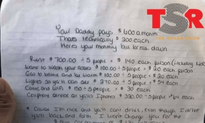 Mum writes letter to her kids telling them how much they cost