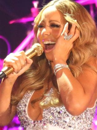 Adopted Aussie ... Mariah Carey performs at Crown Casino. Picture: Getty