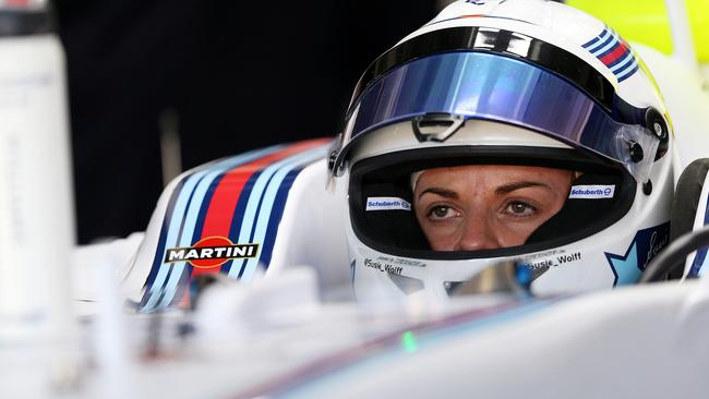 Wolff finally gets her chance to drive in Friday practice.