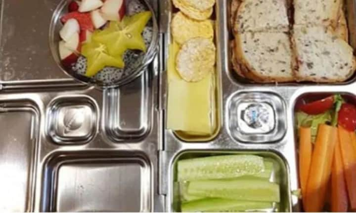 Can you spot why this four-year-old's lunch box was slammed as 'unhealthy'?