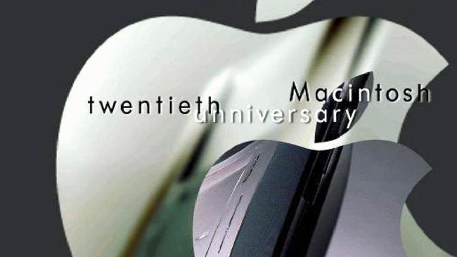 The Apple Macintosh 20th anniversary logo