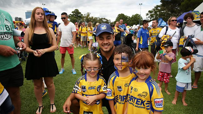 Jarryd Hayne at Parramatta's fan day yesterday. Picture: Brett Costello