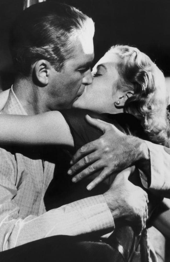 James Stewart and Grace Kelly in the Hitchcock film Rear Window. Picture: Getty