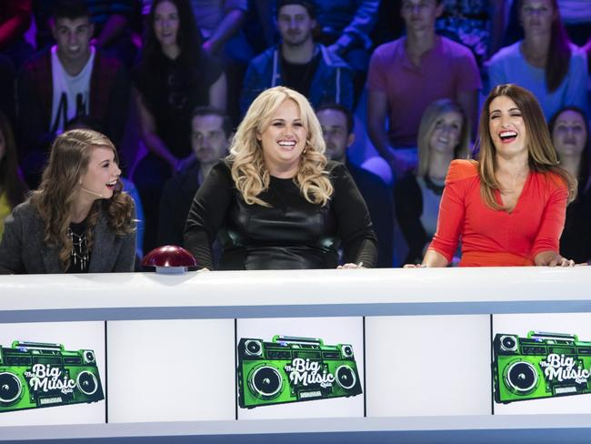 Rebel Wilson was paid about the same money to appear on The Big Music Quiz, alongside Bini Irwin and Ada Nicodemou, as she was to play Fat Amy in Pitch Perfect.