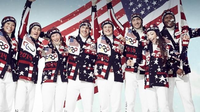 There's a bit going on with the US team's Ralph Lauren outfits, unveiled on Friday.