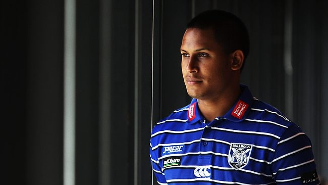 Canterbury Bulldogs NRL player Ben Barba at the team members day at ANZ Stadium, Olympic Park, Homebush, Sydney. Picture: Phil Hillyard