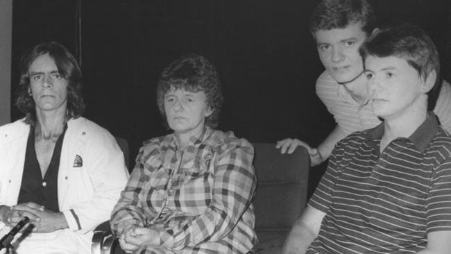 Faye Knowles and her sons Patrick, 24, Sean, 21, and Wayne, 18, claim to have been terrorised by a UFO as they travelled across the Nullarbor towards the South Australian border in 1988.