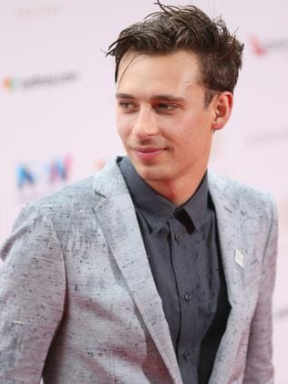 Music producer Flume arrives at the 30th ARIA Awards. Picture: AAP