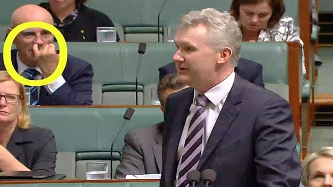 Caught out: Warren Snowdon in question time.