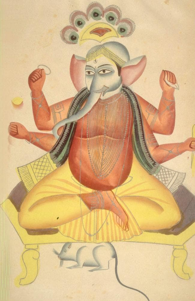 Hindu god Ganesha has the face of an elephant.