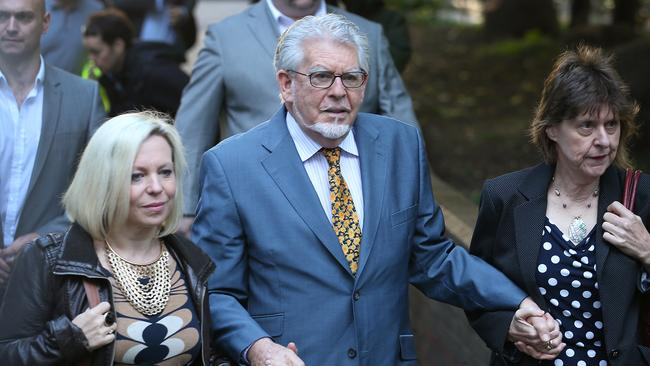 """I now see him as a father and a man"" ... Rolf Harris' daughter Bindi Nicholls (pictured with the star) today addressed the court for the first time."