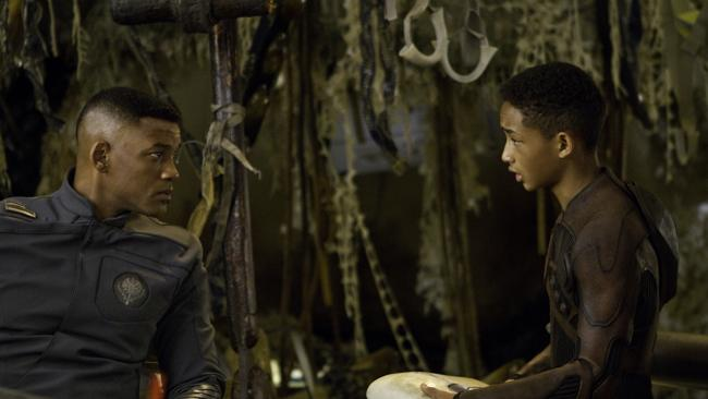 Will Smith, left, and son Jaden star in Columbia Pictures' film After Earth. Picture: Sony Pictures