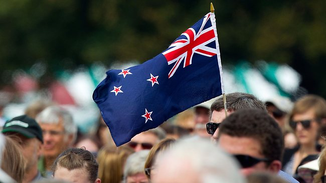 Flagging support ... the Kiwis may get the chance to vote on whether to drop their current flag which, like the Australian flag, features the Union Jack and the Southern Cross.