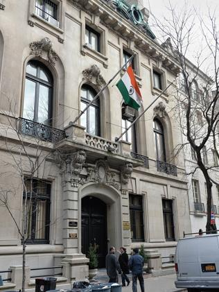 Diplomatic immunity? ... The Consulate General of India building on East 64th Street in New York.
