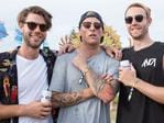Chris O'Donnell, JD Mcritnion, Simon Burnell at the inaugural Corona SunSets Festival. Picture: Supplied