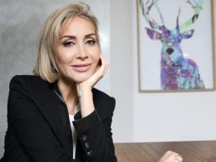 High-class escort Samantha X pictured at her Bondi home ahead of the release of her latest book 'Back on Top — Confessions of a high-class escort'. Picture: Toby Zerna
