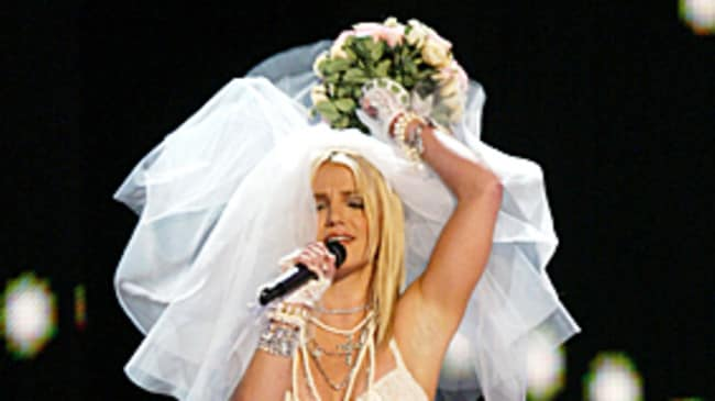Iconic. Britney at the 2003 MTV VMAs (before she pashed Madonna).