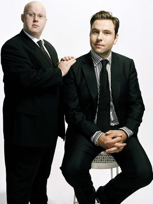 Actors and comedians, Matt Lucas and David Walliams from TV comedy series 'Little Britain'. Picture: supplied.