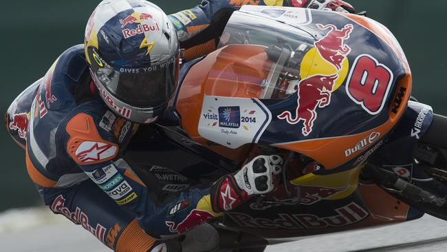 Miller leads the Moto3 world championship by 13 points.