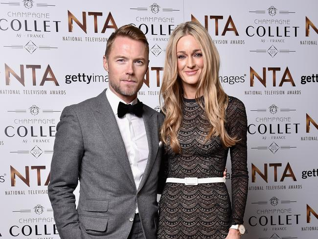 Happy ... Ronan Keating and wife Storm Uechtritz. The Irish singer says he's 'happier' than ever. Picture: Gareth Cattermole/Getty Images