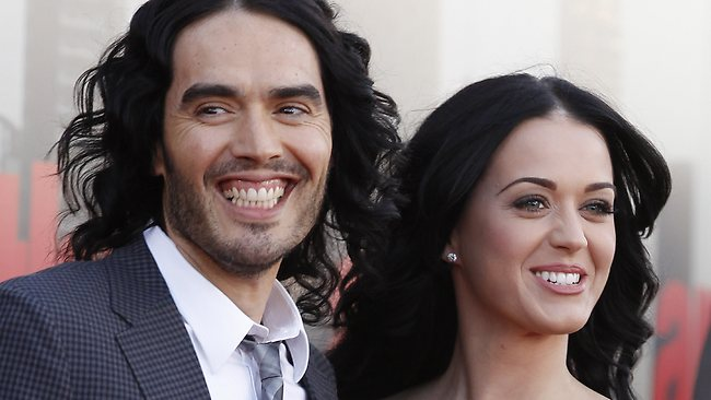 Russell Brand and Katy Perry divorced after one year. Picture: AP